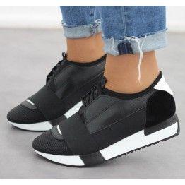 Madra Siyah Spor Ayakkabı