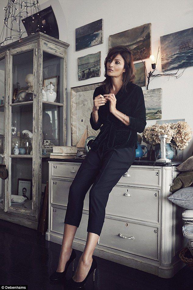 Helena Christensen, 47, in Nine by Savannah Miller PJ jacket: £45, Siren by Giles Deacon: £59...