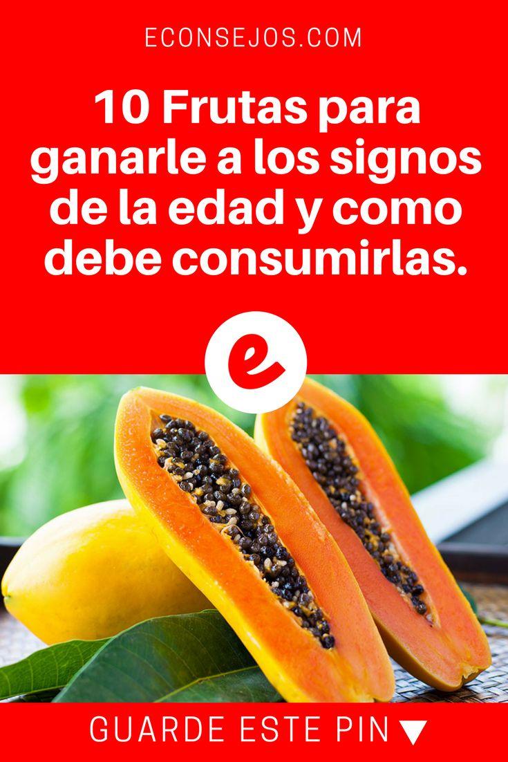 Anti envejecimiento | 10 Frutas para ganarle a los signos de la edad y como debe consumirlas. | 10 Frutas para ganarle a los signos de la edad y como debe consumirlas.