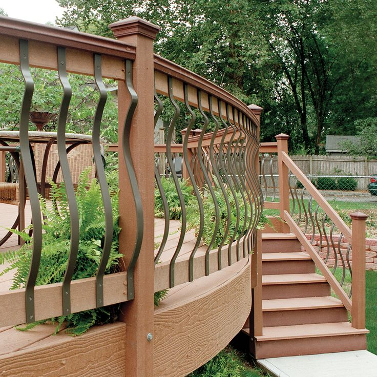 Wood Iron Railings : Best images about front porch railing ideas on