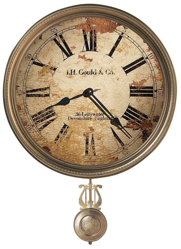 howard miller wall clocks this antiqued traditional wall clock is styled to have the same worn and distressed look as those of john gould