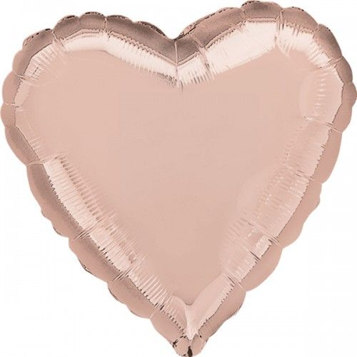 Rose Gold Heart Balloon - Stylish Party Balloons Online - Party Shop UK