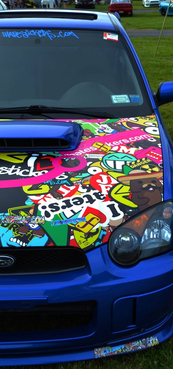 I'll do sticker bomb on my civic scratched hood I keep for a while. Killer.