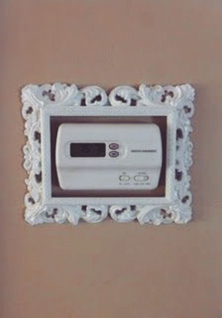 cute idea...could be used for a lot of unsightly permanent wall mounted eye sores in college dorm rooms
