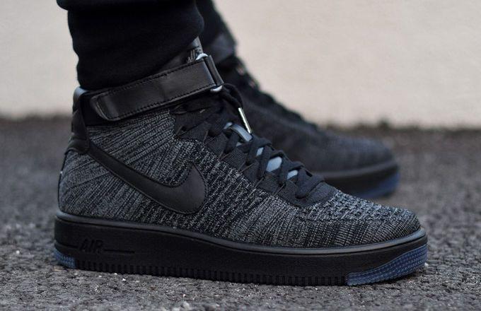 "Nike Air Force 1 Ultra Flyknit ""Black/Grey"" | Complex CA"