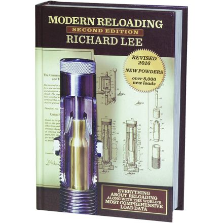 Modern Reloading Manual 2nd Edition by Richard Lee by LEE RELOADING PRODUCTSAn in depth view into reloading by the foremost inventor of reloading products. Ammunition reloading products. Ammunition reloading for the shooter, hunter and the reloader. Includes nearly all current load data published by the powder suppliers. 26,000 loads with exclusive pressure and velocity factors. (500 pages of charts. 720 pages total)