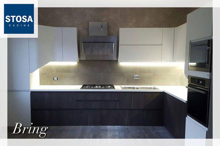 Un esempio di design e funzionalità: #StosaBring nella finitura Grigio Lava e Bianco Onda di Luca e Loriana realizzata da Orecchioni Mobili