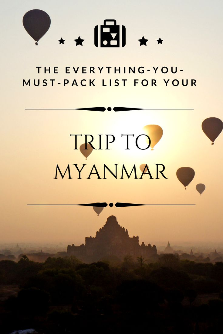 One of Southeast Asia's most spectacular and undiscovered country: Myanmar. Make sure you don't forget to bring all the essentials I have listed here for you. #Myanmar #Burma #WhatToPack #MyanmarPackingList #PackingList