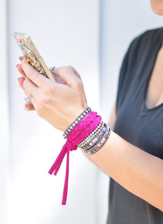 DIY Braided Jersey Bracelet