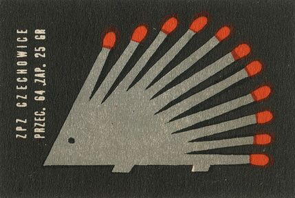 Vintage Matchbox Cover: Vintage Packaging, Illustration, Vintage Matchbox, Graphics Design, Matchboxlabel, Matchbox Labels, Matching Boxes, Hedgehogs, Polish Matchbox