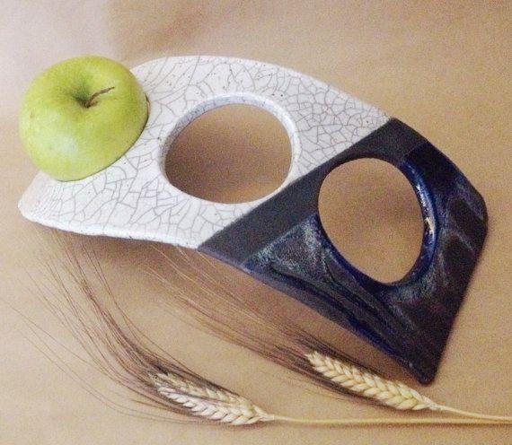 Portafrutta in ceramica raku di LaterraCrea su Etsy