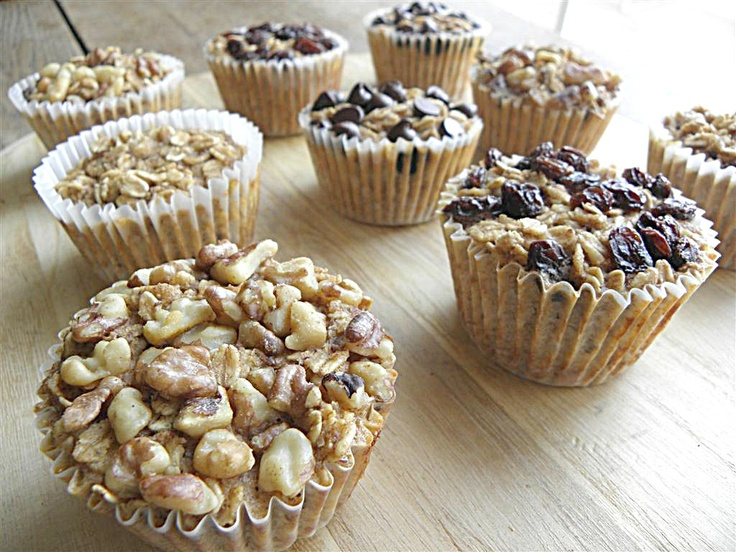 Personal Sized Baked Oatmeal    Servings: 18* Calories: 143* Fat: 4g* Fiber: 4g* Carbs: 23g* Protein: 6g*