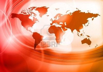 世界の赤い地図 ストックフォト