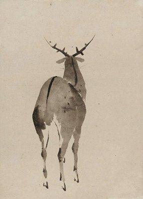 Katsushika Hokusai, Deer, Edo period Japan, ca. 1840-50