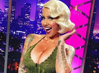 Amber Rose New Look With Hair   Amber Rose New Look With Hair  Mirror reports that Amber Levonchuck aka Amber Rose decided to mix it up on Tuesday. The former stripper surprised her fans with a blonde wig with beautiful loose waves. Her fans loved her new hairstyle and many of them left her compliments via Instagram. We're accustomed to seeing the talk show host with a shaved head but her new look proves that she's a natural beauty.  According to The Sunthe vintage blonde wig looked great…