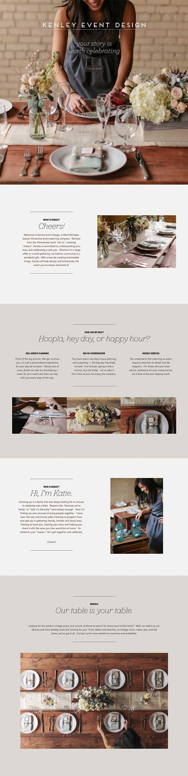 Great look for a business website or blog media kit