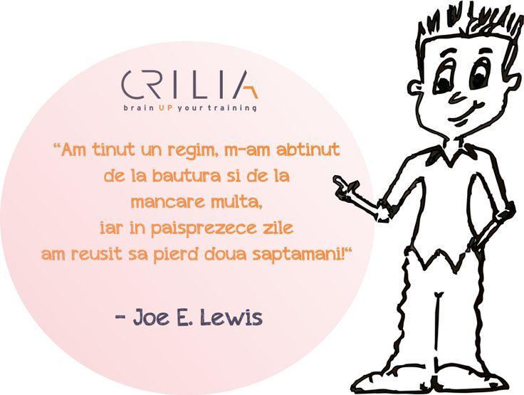 Am ținut regim... www.crilia.ro