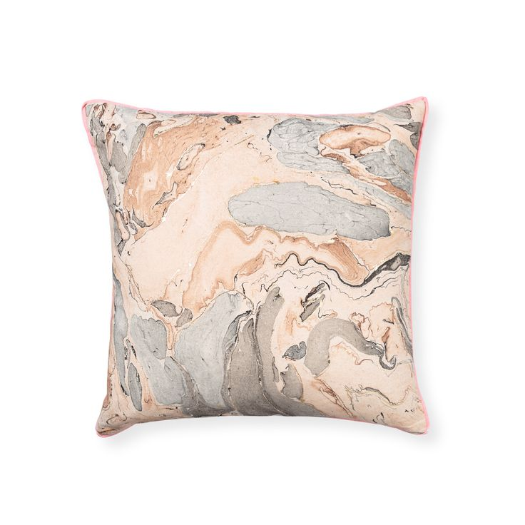 Buy the Pink Marble Cushion at Oliver Bonas. Enjoy free UK standard delivery for orders over £50.