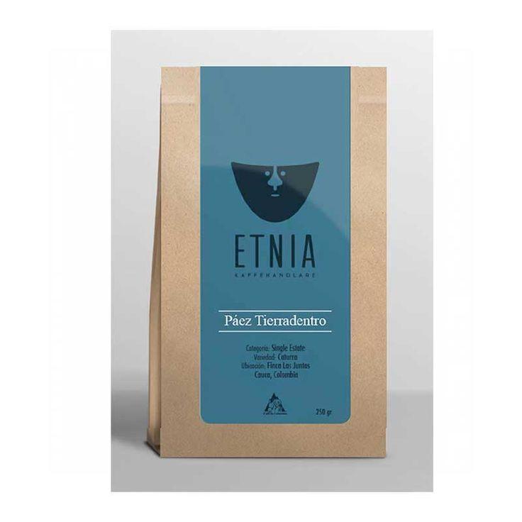 Etnia - Paéz Tierradentro - Colombia - Lätt mörkrostade kaffebönor - 250g