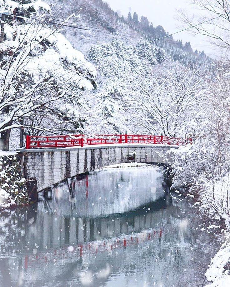Shogawa Gorge, Tonami, Toyama, Japan, winter, snow