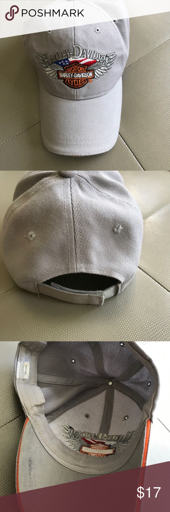 Harley Davidson men's hat, used Harley Davidson men's hat, used, pictures show condition of hat, price reflects hat being used, still a great Harley Davidson hat, slightly worn Harley-Davidson Accessories Hats