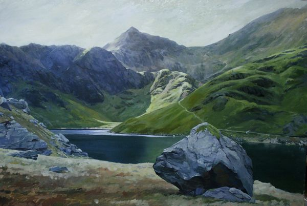 Link to Snowdon from Llyn Llydaw, Limited Edition Print (Giclee), from an original by Rob Piercy