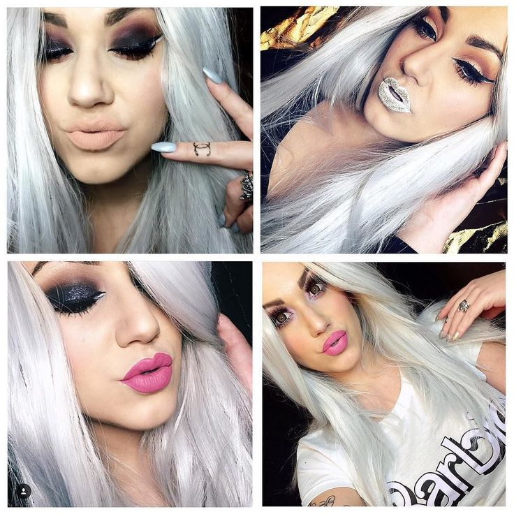 The drop dead gorgeous @imogenhearts wearing and looking amazing in Lush Wigs - Ice Queen. Ice Queen will be back in stock soon  #lushwigs #wig #lushwigsicequeen #mua #altmodel Lushwigs.com