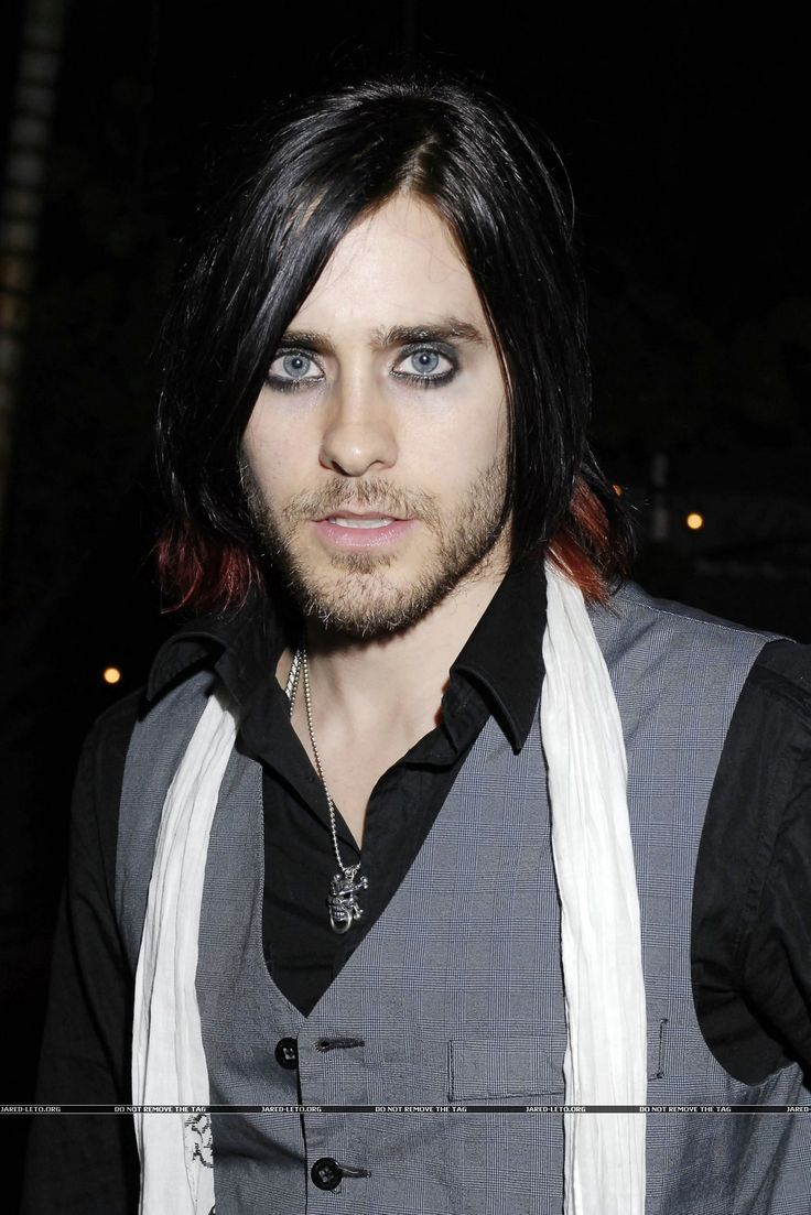 JARED LETO, strange , but he does have a lovely face . I've always liked his eyes
