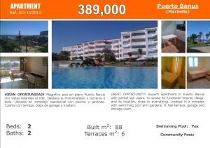 On Sale: #Marbella Puerto Banus apartment first line beach urbanisation Ref.110013