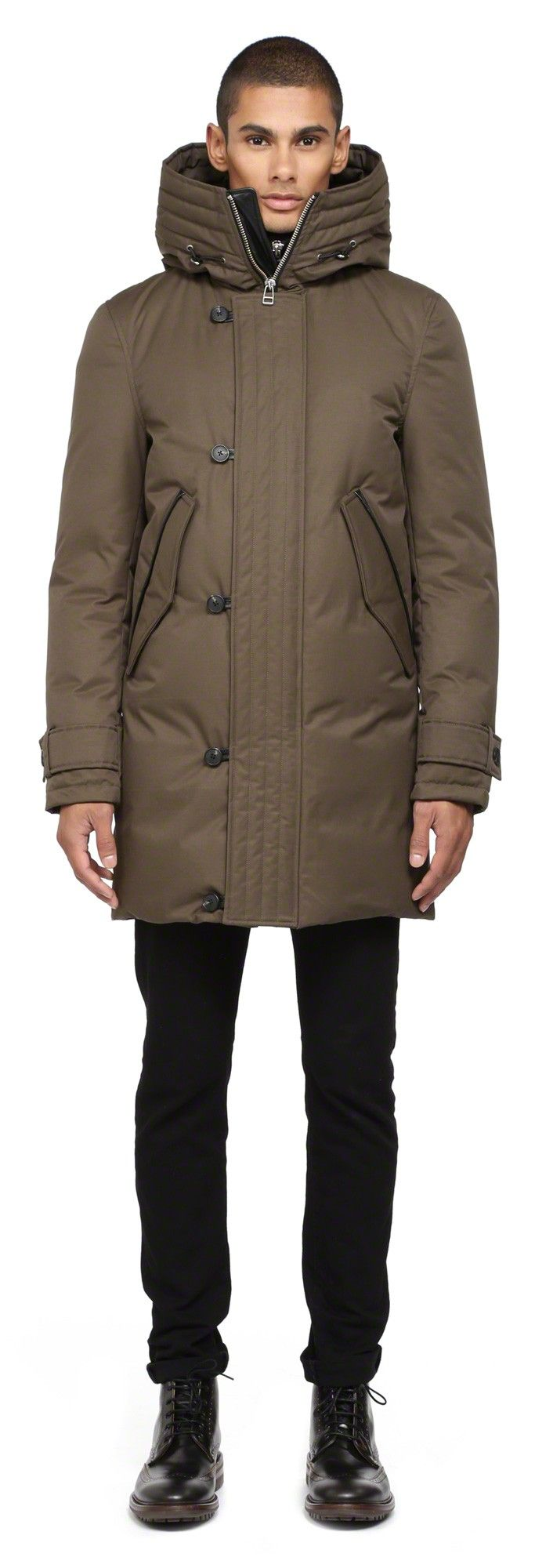Mackage - SLOAN ARMY WINTER LONG DOWN PARKA COAT FOR MEN WITH HOOD…