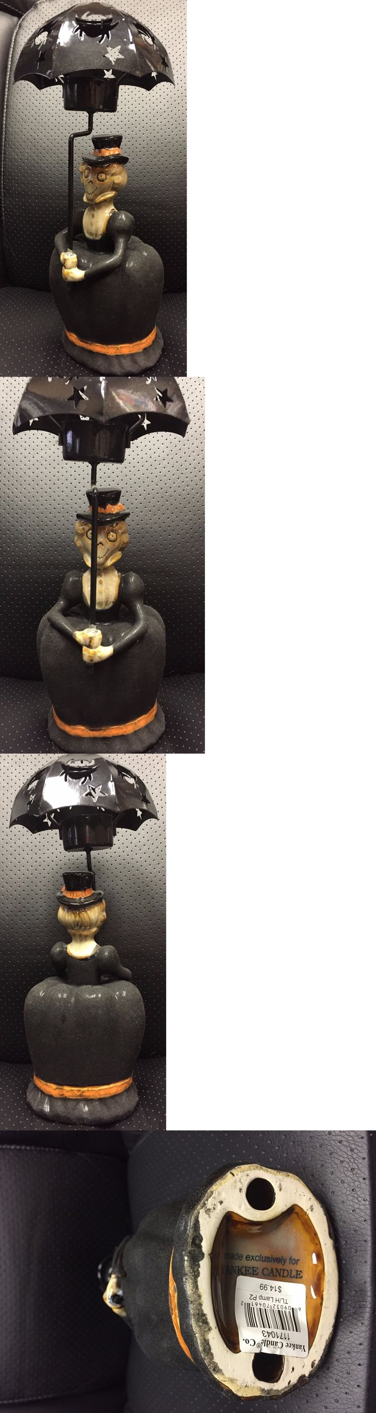 Halloween 170094: 2009 Yankee Candle Boney Bunch Aunt Hilda Umbrella Lady Tea Light Holder -> BUY IT NOW ONLY: $99.99 on eBay!