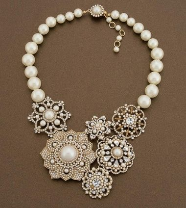 pearls and brooches