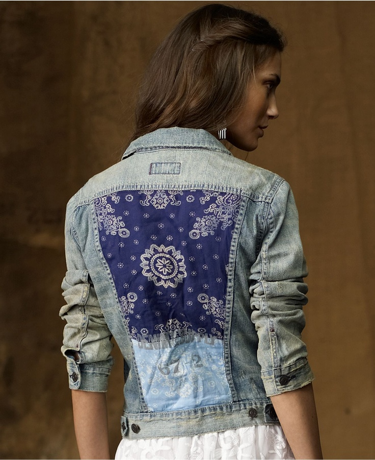 Denim & Supply Ralph Lauren Jacket, Bandanna-Patch Denim - Denim & Supply Shop All - Women - Macys