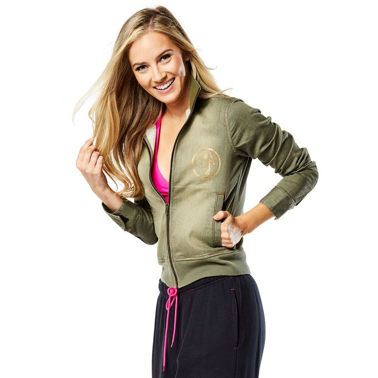 WORLD TOUR MILITARY JACKET - ARMED AND READY -------------- Okay ladies, time to get in formation with the World Tour Military Jacket! Featuring a new denim colour, front zipper and side pockets, this is a must-have piece on the dance floor. Zumba jacket.