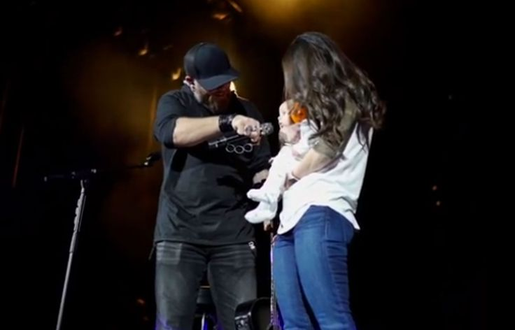 Brantley Gilbert Introduces Baby Barrett to Fans During Hometown Show: 'I Just Wanted Y'all to Meet My Son'