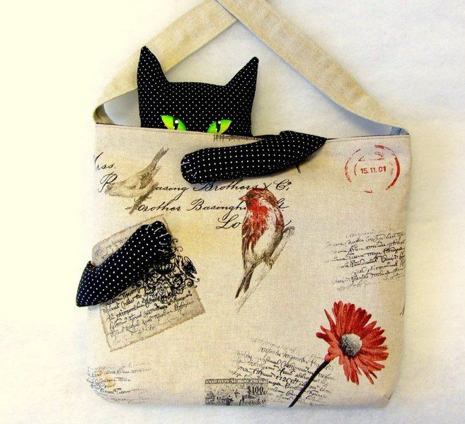 "Schultertasche+""Cat+in+the+Bag"