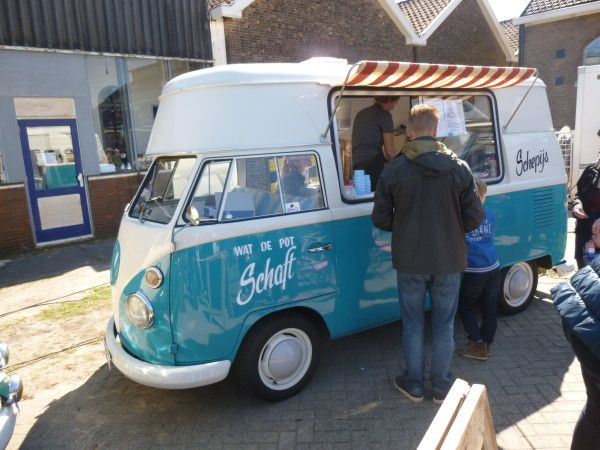 Food Trucks Meeting I, NL · Food TrucksVw BusVolkswagenVanT1 T2GreenFood  TruckIce Cream SandwichesCars