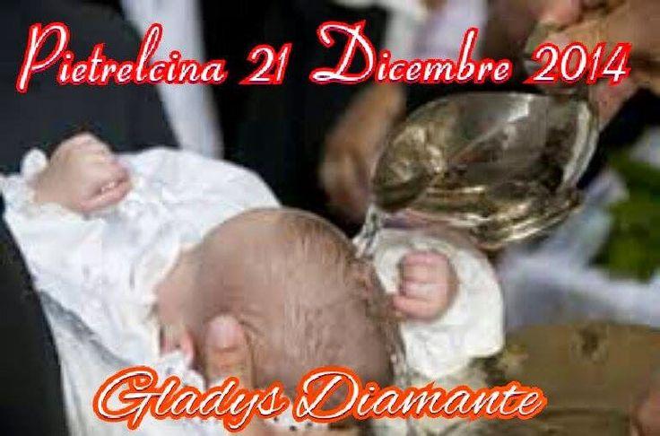 notizie lucane, basilicata news: Battesimo di Gladys Diamante a Pietralcina