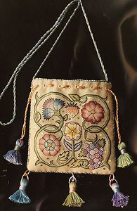 Queen's Sweet Bag Embroidery Pattern w Threads Nostalgic Needle Sharon Cohen | eBay