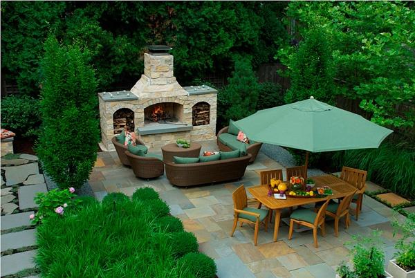 Backyard LivingFireplaces Design, Cores Logs, Extra Living, Dreams Cores, Fresh, Dreams House, Outdoor, Backyards Living, Beautiful Gardens