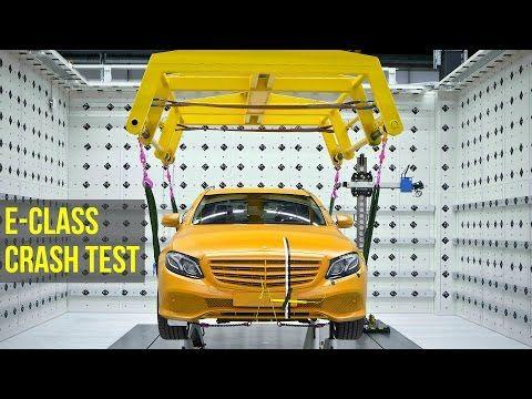 2017 Mercedes E-Class Crash Test - Better than 5 Stars - YouTube