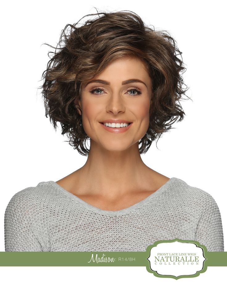 FRONT LACE LINE | Layered Bob with Loose Spiral Curls & Bangs