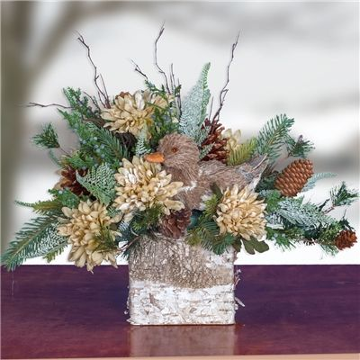 Winter Woodland Friends Christmas Arrangement