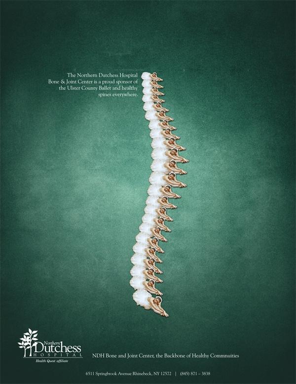 Northern Dutchess Spine Ad by Zach Summers, via Behance