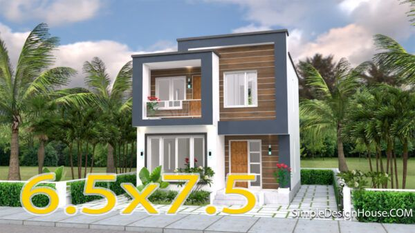 Small House Design 7x7m With 3 Beds Simple Design House House Design Simple House Design Small House Design