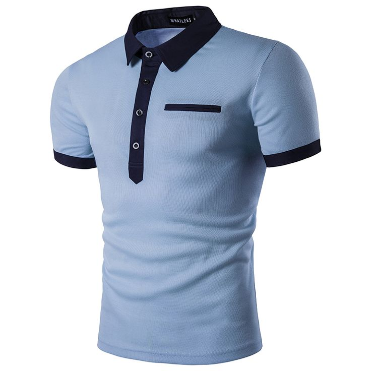 Best Polo Shirt Men Polo Homme 2017 Patchwork Single Breasted Mens Polo Shirt Short Sleeve Turn Down. Click visit to check price