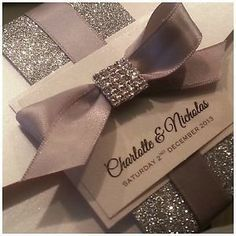 elegant wedding invitations with crystals - Google Search