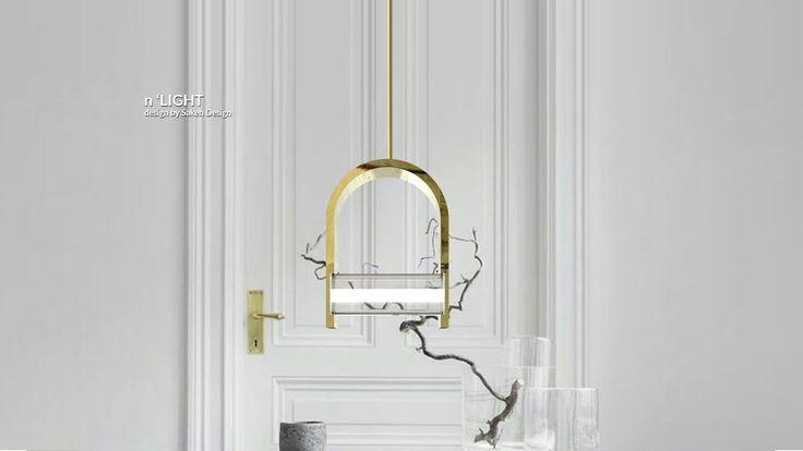 Metal ve camdan oluşan led aydınlatmalı, sarkıt lamba.   Pendant lamp as a combinatio n of metal and glass, with led. #lighting #design #glass #saken #productdesign #lightingdesign #aydinlatma #tasarım #ürün #pendant