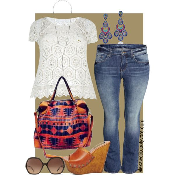 A fashion look from July 2014 featuring Samya tops, H&M jeans and Steve Madden sandals. Browse and shop related looks.