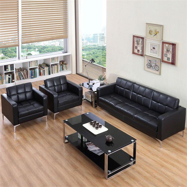 Biura Kanapa Meble Sklepowe Meble Biurowe office Hotel kawiarnia sofa PU trzy kawałki zestawy sofa mody stałe 2016